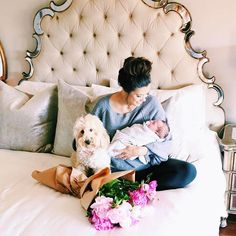 Introducing dog to baby Maternity Pictures, Baby Pictures, Baby Photos, Family Pictures, My Pregnancy, Pregnancy Photos, Cute Little Baby, Little Babies, The Sweetest Thing Blog