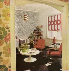 I will never get 70s decorating, but it looks like interesting people live here. I bet a lot of consciousnesses were raised in this room.