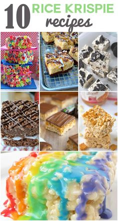 10 Rice Krispie Treat Recipes - Somewhat Simple We're taking the classic Rice Krispie treats recipe and mixing it up! Here are 10 Rice Krispies that are not only delicious, they're also super simple to make! Rice Krispy Treats Recipe, Rice Crispy Treats, Krispie Treats, Yummy Cookies, Yummy Treats, Delicious Desserts, Sweet Treats, Rice Krispies, Best Rice Recipe