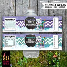Paw Patrol Everest Water Bottle Labels https://www.etsy.com/listing/263104972/paw-patrol-birthday-water-bottle-labels