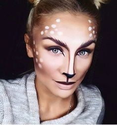 deer makeup halloween costume ideas you 39 ll want to fawn over reh regen und kost mvorschl ge. Black Bedroom Furniture Sets. Home Design Ideas