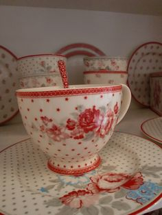 GreenGate Teacup Coco and Plate Tilde