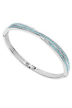 a807e45a16d8 Callura Aqua Swarovski Crystal Bangle  29.99 Bangles Making