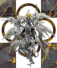 Illustrations for reaper76 fan novel Let the Trumpet Blare.