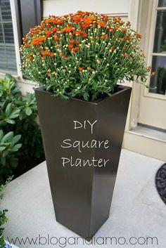 ANDIAMO: Tall Square Planters | A Diy Tale: