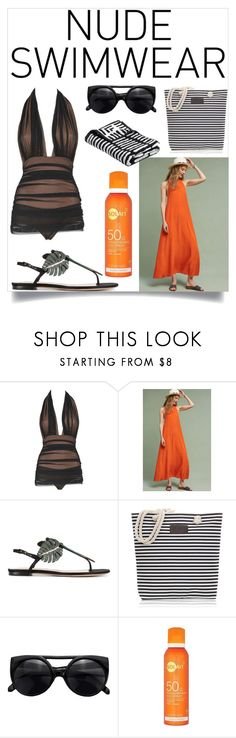 """Skinsight"" by sabrina-fatma-ahmad ❤ liked on Polyvore featuring Norma Kamali, Valentino and nudeswimwear"