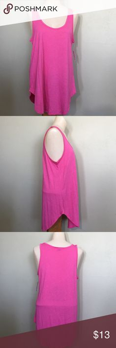 Old navy pink loose fit and long tank top, medium Brand new with tags. You can get what you are expecting on a brand new products. Old Navy Tops Tank Tops