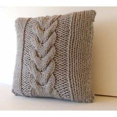Items similar to Twisted and Crossed Cable Pillow - PDF Knitting Pattern on Etsy. , via Etsy. Arm Knitting, Knitting Patterns, Knitted Cushions, Knitted Blankets, Crochet Pillow, Knit Or Crochet, Diy Pillows, Throw Pillows, Lace Knitting