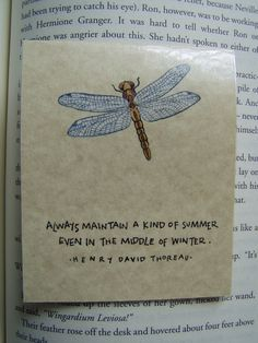 henry david thoreau quote dragonfly magnetic by JDooreCreations