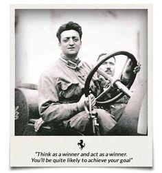 Enzo Ferrari pilota