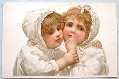Gorgeous Little Girls in White Theo Stroefer Early UDB Postcard | eBay