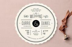 Vintage Ampersand Wedding Invitations for Minted.com  |  Designed by Jennifer Wick
