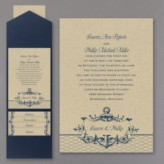 This nautical-by-nature, pocket invitation is detailed with elegance and charm. The couple's names are showcased within an anchored, scroll banner below the invitation wording. Beach Theme Wedding Invitations, Nautical Wedding Theme, Pocket Invitation, Invitation Wording, Wedding Stationery, Custom Invitations, Invitation Ideas, Craft Wedding, Invitations