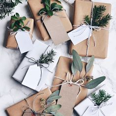 Have you done your wrapping yet? I have done a very similar neutral theme to this on mine and having now pinned this to my Christmas Board on Pinterest I am so going to nip out a few days before the actual day to add some fresh foraged greenery from my lo