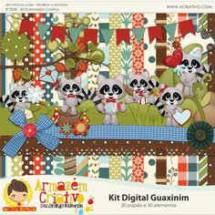 Kit digital Guaxinim - Armazém Criativo