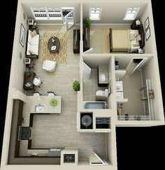 The bedroom closet layout.