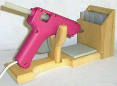 Love this little glue gun holder, especially the box to hold my extra glue sticks.