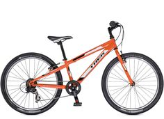 Sport Kids: MT 200 Boys. Trek Kids' mountain bikes are the real deal, with light frames, knobby tires, quality parts, durable construction, and Dialed adjustable components that can grow with young riders.
