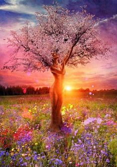 Mother Nature Tree Of Life Square Diamond Painting-Mystical, visionary and fantasy art. Discover some of the most spiritual artwork by amazing artist from around the world. All Nature, Nature Tree, One With Nature, Amazing Nature, Amazing Art, Images D'art, Paint By Number Kits, Wow Art, Tree Art