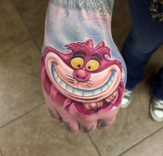 Cheshire Cat Tattoo on Hand by Coop