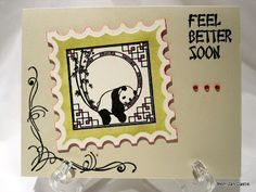 Panda Feel Better Soon card