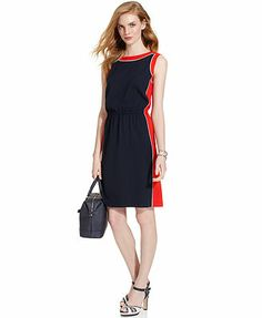 Tommy Hilfiger Sleeveless Colorblocked Dress