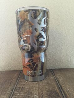 30oz RTIC tumbler hydro dipped in camo by Bulldoghydrographics