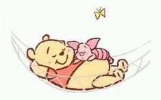Winnie The Pooh Cartoon, Winnie The Pooh Drawing, Winnie The Pooh Pictures, Cute Winnie The Pooh, Sleeping Hammock, Sleeping Gif, Piglet, Pooh Bear, Eeyore