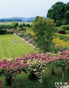 A view from a Sussex, England, house stretches toward the West Sussex countryside. Loved this area of England. Formal Gardens, Outdoor Gardens, Landscaping Tips, Garden Landscaping, Dream Garden, Home And Garden, Traditional Landscape, Parcs, Hedges