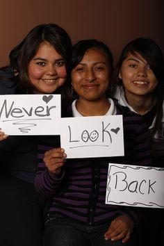 Never, Gabriela Limones, Estudiante, UANL, Monterrey, México  Look, Concepciona Mendoza, Estudiante, UANL, Monterrey, México  Back, Mayté Leyva, Estudiante, UANL, Monterrey, México