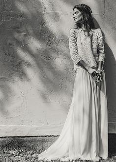 Lace wedding dress Top Becker & jupe Desplechin