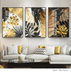 Nordic Tropical Gold Leaves Abstract Wall Art Posters Fine Art Canvas Prints For Modern Office Or Apartment Pictures For Living Room Decor - Decoration Fireplace Garden art ideas Home accessories Abstract Wall Art, Canvas Wall Art, Wall Art Prints, Canvas Prints, Canvas Paintings, Modern Paintings, Living Room Canvas, Living Room Art, Paintings For Living Room