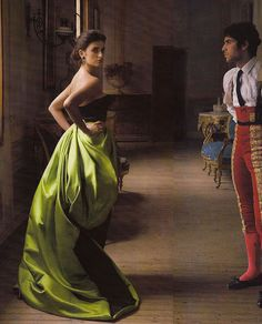 """""""Made in Spain"""" Penelope Cruz and Cayetano Rivera Ordóñez photo by Annie Leibovitz for Vogue"""