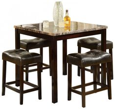 coffee stations DIY coffee stations Espresso Machine coffee stations Counter Space coffee stations Kitchen High Dining Room Table Sets Fresh High top Table Sets to Create An Entertaining Dining Space You are in the right coffee station Kitchen Table Small Space, Counter Height Kitchen Table, Modern Kitchen Tables, Kitchen Table Makeover, Kitchen Stools, Counter Space, Bar Stools, Modern Patio, Small Dining