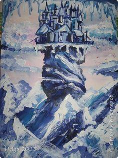 Картина панно рисунок Мастер-класс Рисование и живопись Замок Снежной королевы Акварель Бумага Гуашь фото 1