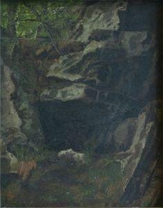 Strebel, Richard Hermann (1861-1940)  Höhle bei Blankenburg 1887