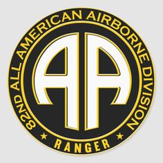 American Vinyl Yellow Airborne Tab Shaped Sticker Logo Army SSI air Military