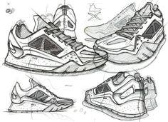 Footwear Renderings/Sketches by Mr Bailey, via Behance