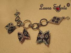 "Bracciale ""Favola di Fiocchi"" #bracciale #bracelet #swarosvki #miyuki #chainmaille #charm #fiocco"