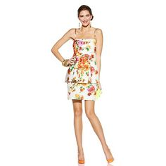 Betsey Johnson Sleeveless Floral Print Dress, only sizes 6 to 12 129.00 flexible payment available, HSN.
