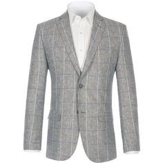 Paul Costelloe Cement Grey Cotton Jacket (€190) ❤ liked on ...