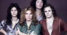 Van Halen ❤ One of my favourite pictures of the band. I love that they are all wearing the VH necklace.