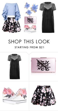 """""""Want to go home"""" by briar-valiant on Polyvore featuring River Island, xO Design, Converse and Rosie Assoulin"""