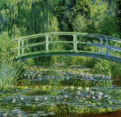 During college everyone had to take Western culture.  We spent a great deal of time studying art, which was quite enjoyable.  My favorite painter was Claude Monet.  Water is very calming to me and flowers are about the most beautiful thing in nature.  Monet's watercolors always leaves me feeling peaceful.  The next time I go to Paris I would like to visit his gardens in Giverny.  If only I could be the only tourist there that day, it would be wonderful!