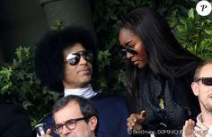 Prince and Damaris Lewis | Prince et Damaris Lewis à Roland Garros le 2 juin…