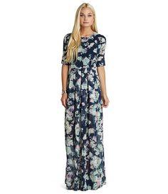 BCBGeneration Floral Open-Back Maxi Dress | Dillards.com