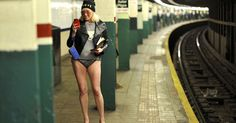 Straphangers in 60 cities around the world stripped down to their underwear for the 13th annual No Pants Subway Ride Sunday.