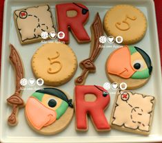 JAKE THE PIRATE MIXED HAPPY BIRTHDAY BORDER EDIBLE CUPCAKE TOPPER DECORATION