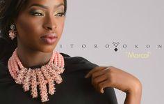 Itoro Okon Marcol beautifully crafted neckpiece bellafricana digest-handmade-made in Nigeria-beads-engagement-traditional wedding-nigerian wedding-bella naija