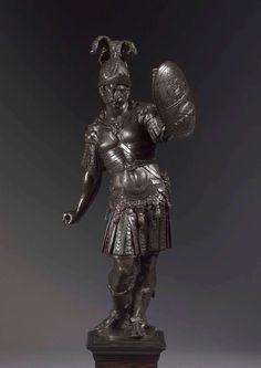 Venetian, 16th century Mars as a warrior a l'antica Cast from a model by Tiziano Aspetti (Padua, 1557/59-1606, Pisa)  Bronze  45.5 cm (18 in.) high